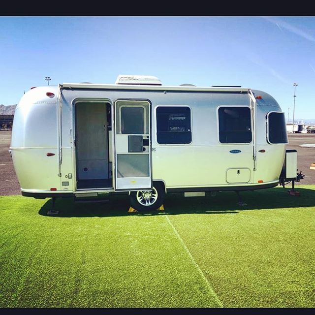 Our Bambi 22 foot making a bright appearance at the Las Vegas Speedway. #lasvegas #airstream #roamandboard #gooutside #goroam #liveoutdoors #speedway #bambi #glamping #outdoors #silverlining #siverbeauty #nevada #camping