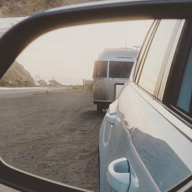 Hello Gold Coast!  Loving seeing the Bambi behind me! #adventure #airstream #goldcoast #pointmugu #malibu #airstream #gooutside #goexplore #roamandboard #roamtheplanet #101 #socal #westcoast  #camping #siverbeauty #silverlining #adventure #californiacoast