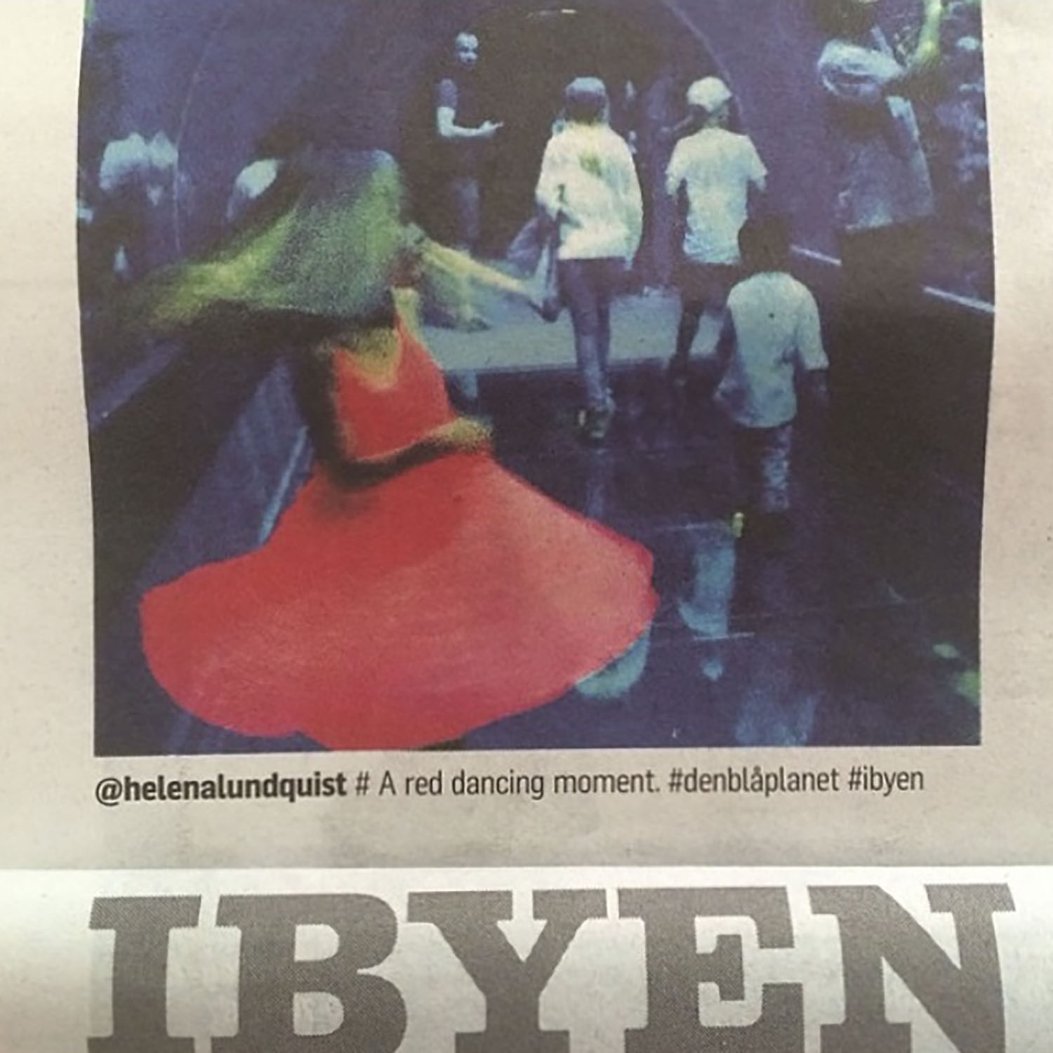 Instagram photo published in Ibyen/Politiken (DK newspaper)