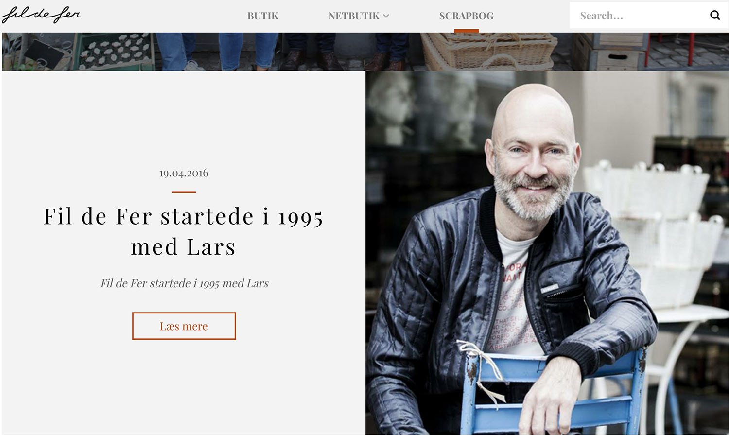 Fil de Fer website - Portrait of the owner and art director Lars Kristensen