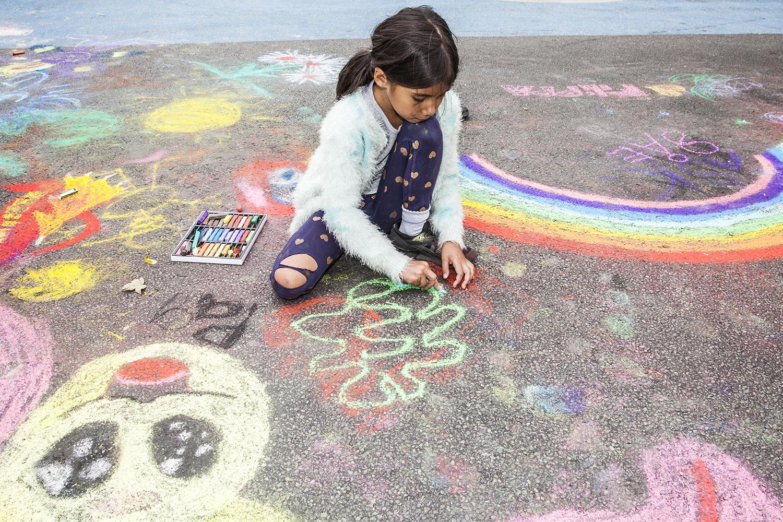 Copenhagen carfree chalk painting day 2016