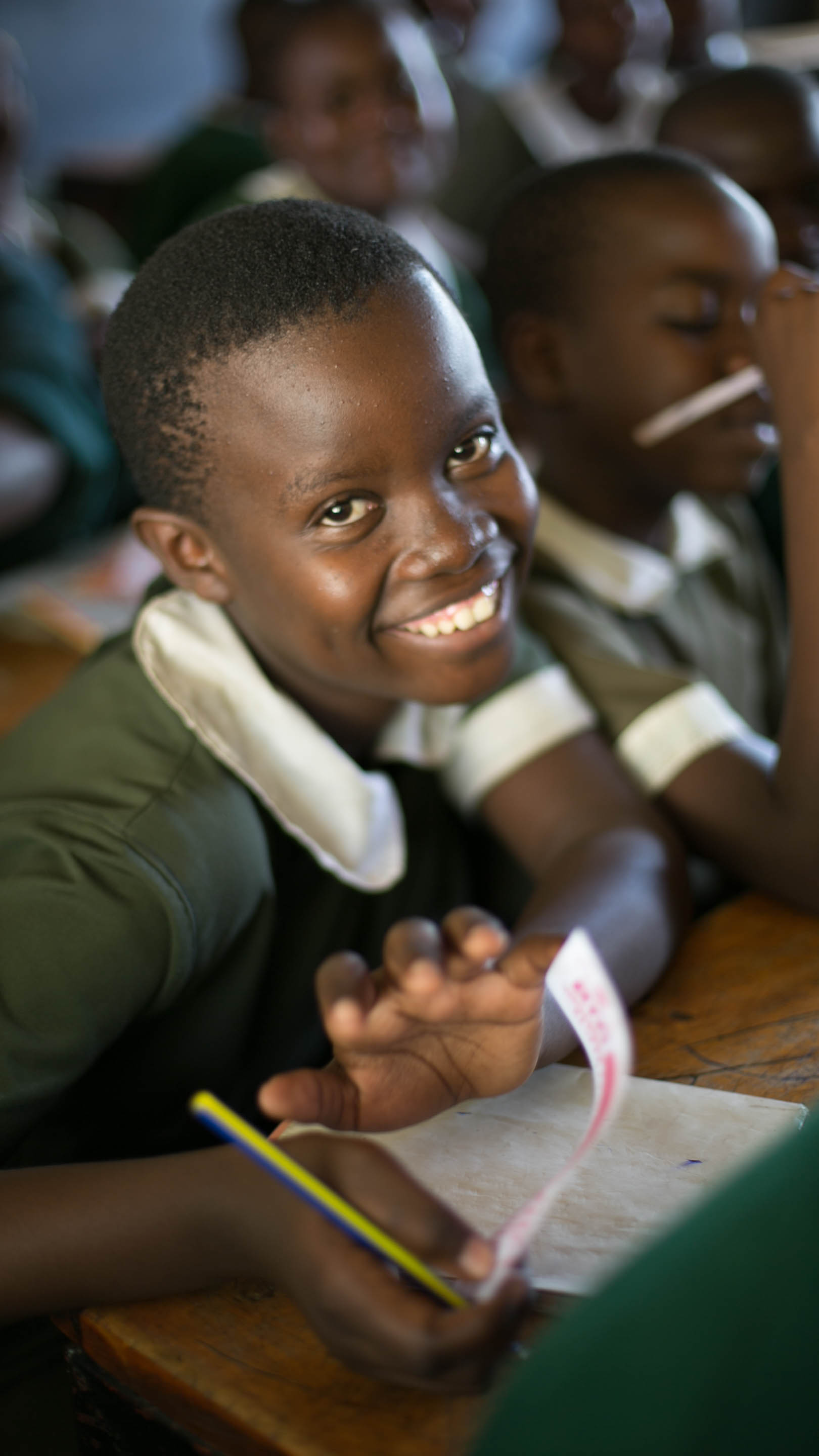 """""""I am so happy and thankful to receive sanitary pads that made me feel precious. I felt as if I had been given millions of dollars. I will be forever grateful because I can achieve my potential."""" - Wambui, Class 8"""