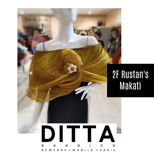 Wear your #Filipinana with Pride. Find the right #DittaWraps for you.  All new designs available at our Rustan's Makati Boutique.  Visit us at the 2/F of Rustan's Makat Women's Section fronting the elevator.  See you there!  #EcoCouture #DittaSandico #SustainableFashion #FilipinanaReinvented #Filipina #Rustans #Fashion #Style #Banaca #Abaca