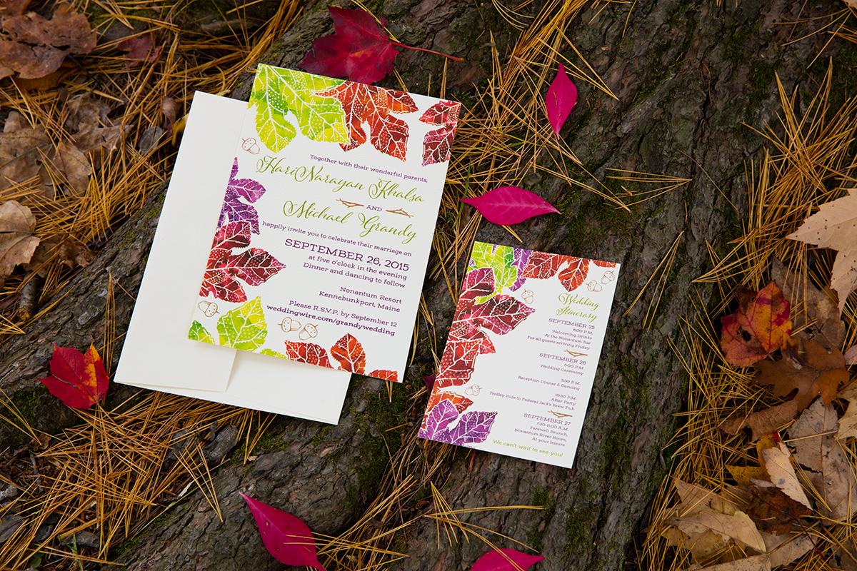 Hari + Mike, September Wedding in Kennebunkport — Invitation Suite