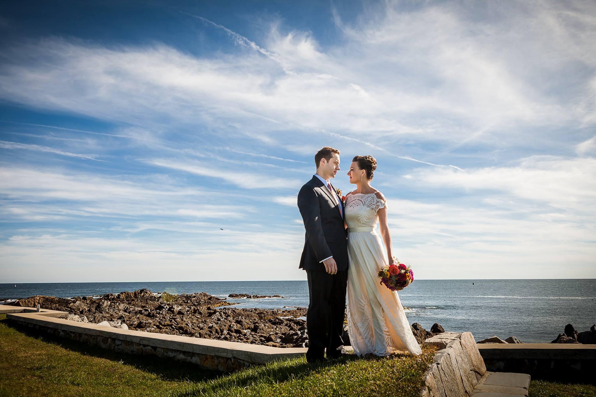Hari + Mike, September Wedding in Kennebunkport — Portrait