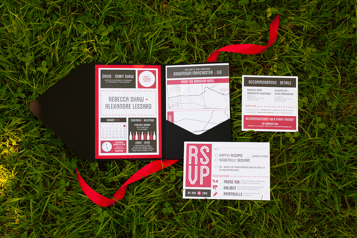 Modern Wedding Design for Winery — Invitation Suite
