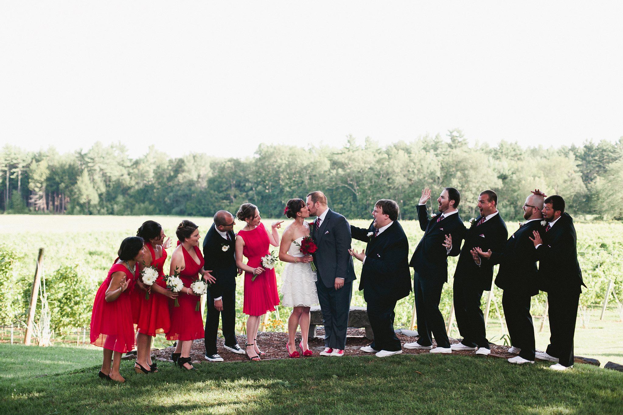 Modern Wedding Design for Winery — Wedding Party Portrait
