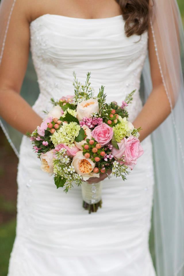 Kate + Rene Summer Garden Wedding — Wedding Bouquet