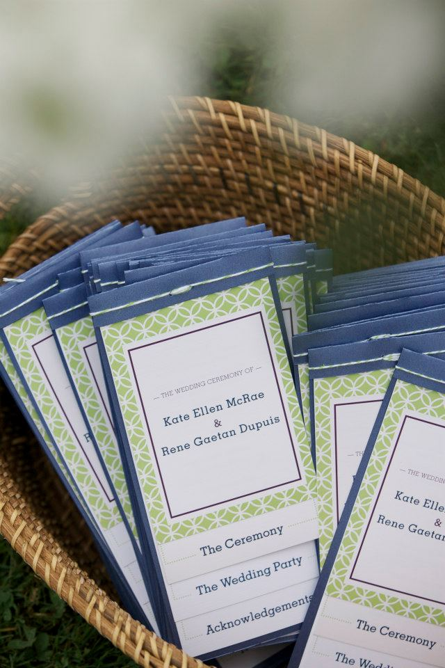Kate + Rene Summer Garden Wedding — Wedding Program