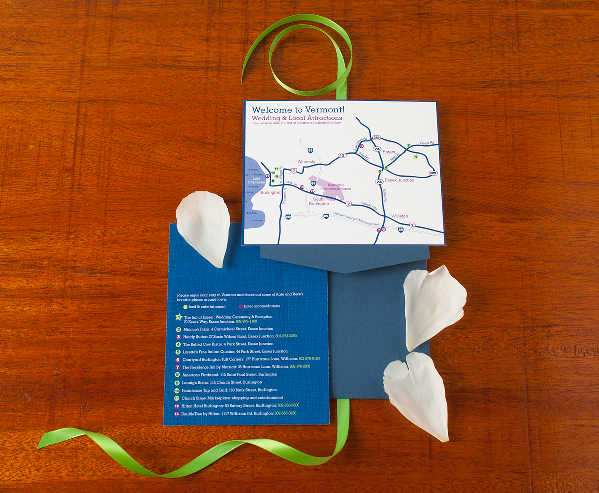 Kate + Rene Summer Garden Wedding — Custom Wedding Map