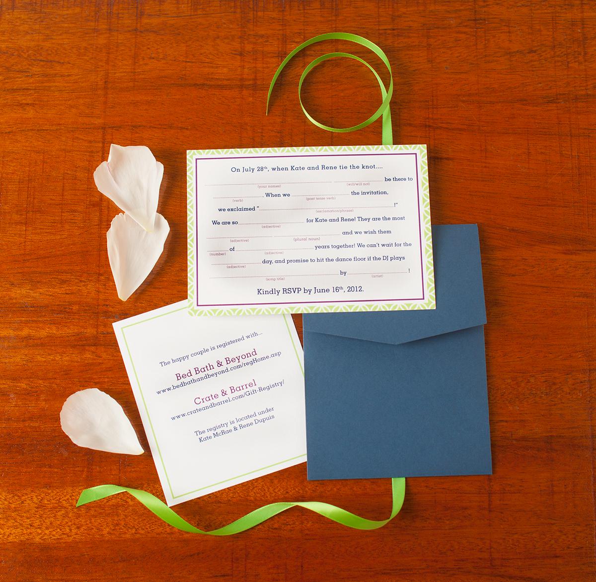 Kate + Rene Summer Garden Wedding — Invitation Suite