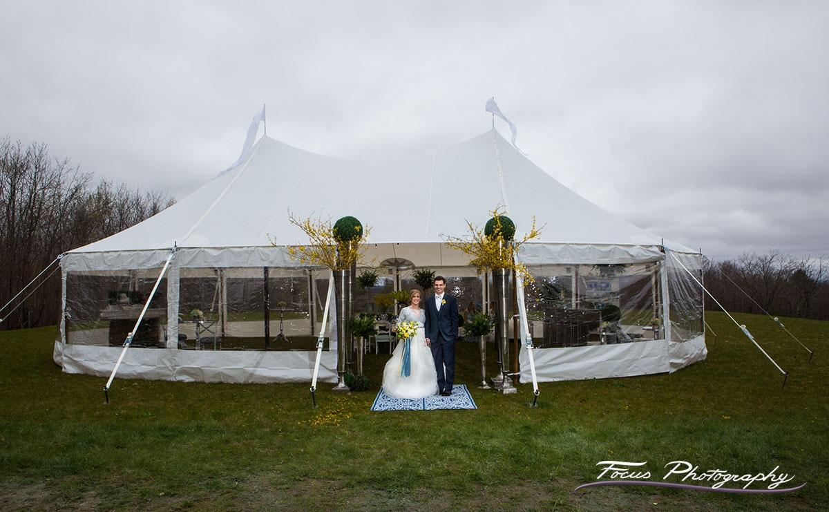 Blue Willow Wedding — Beech Hill Barn Tent Area