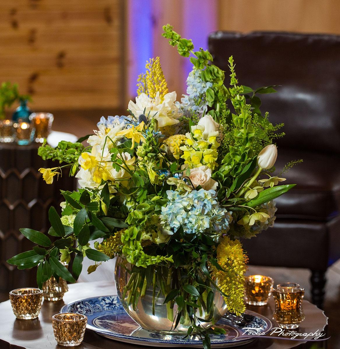 Blue Willow Wedding Florals— Beech Hill Barn