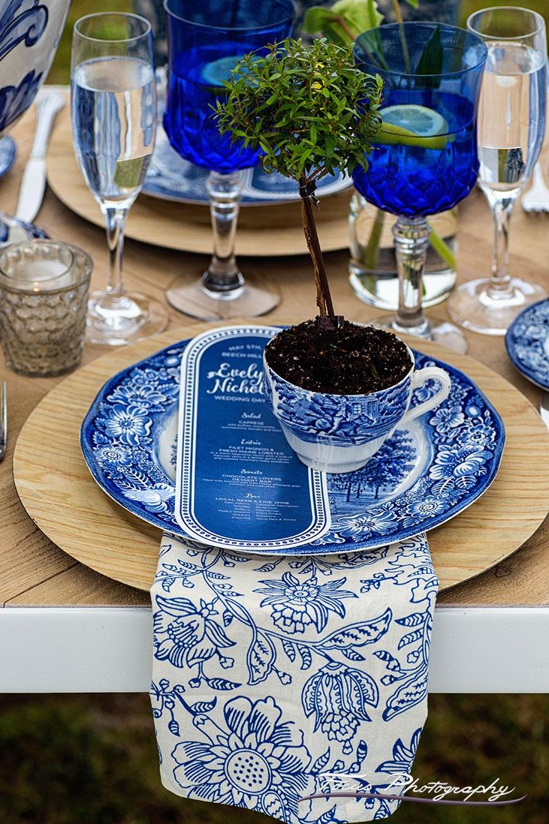 Blue Willow Wedding Custom Menu