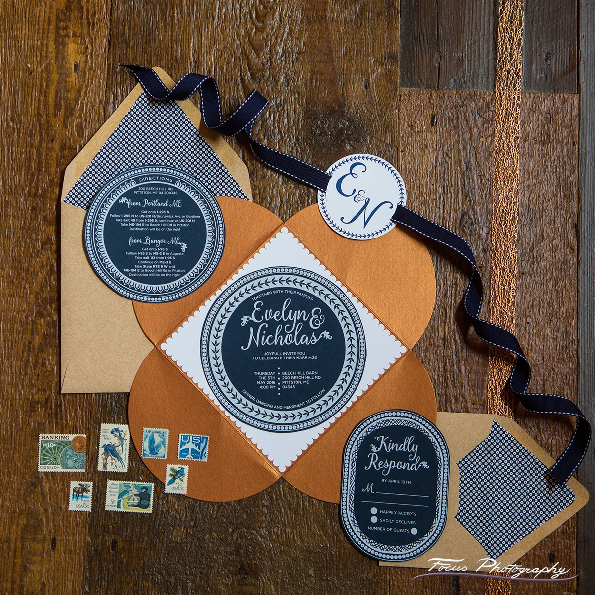 Blue Willow Wedding Invitation Suite