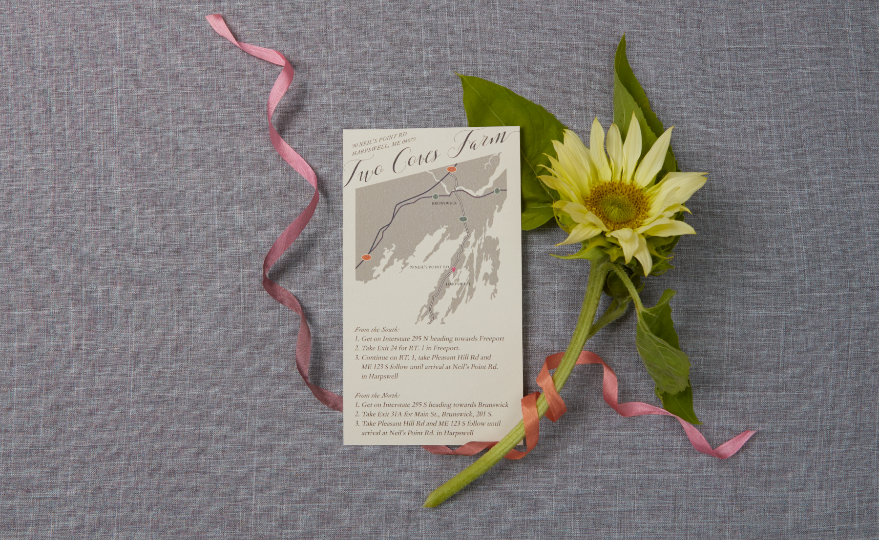 Brooke + Charles, Two Cove Wedding Invitation Suite Styled Shoot