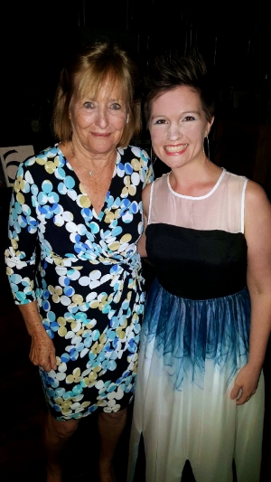 Me with Ms.Von Stade after the Finals Concert at the Kennedy Center.