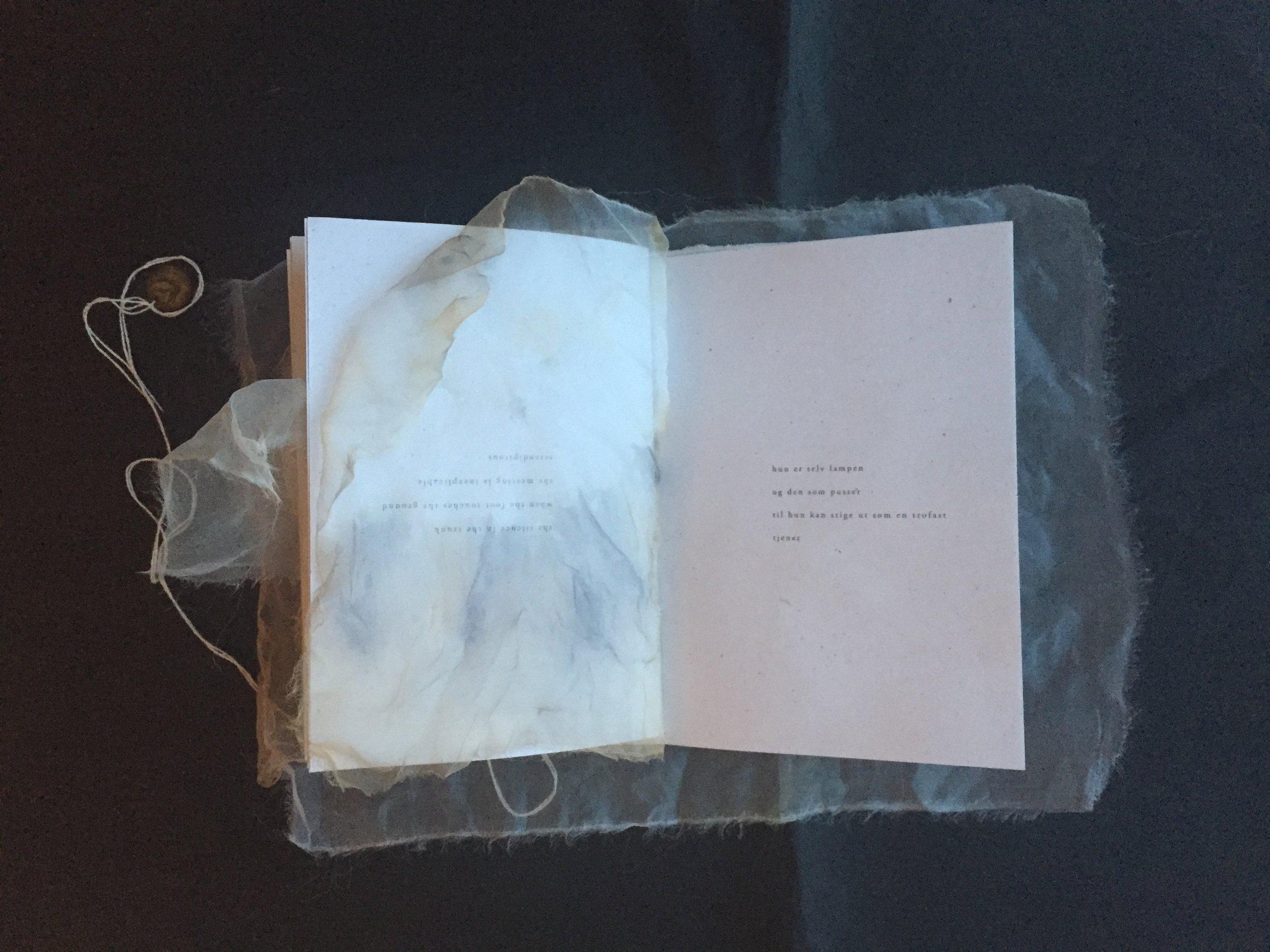 """""""Poesi for øret, øyne og forsiktige fingertupper. Den er håndlagd i kun 100 nummererte eksemplarer, et kunstverk med andre ord som er verd å eie. Et så vakkert og spesielt prosjekt fortjener oppmerksomhet.""""  — Marit Reiersgård Bredesen, forfatter"""