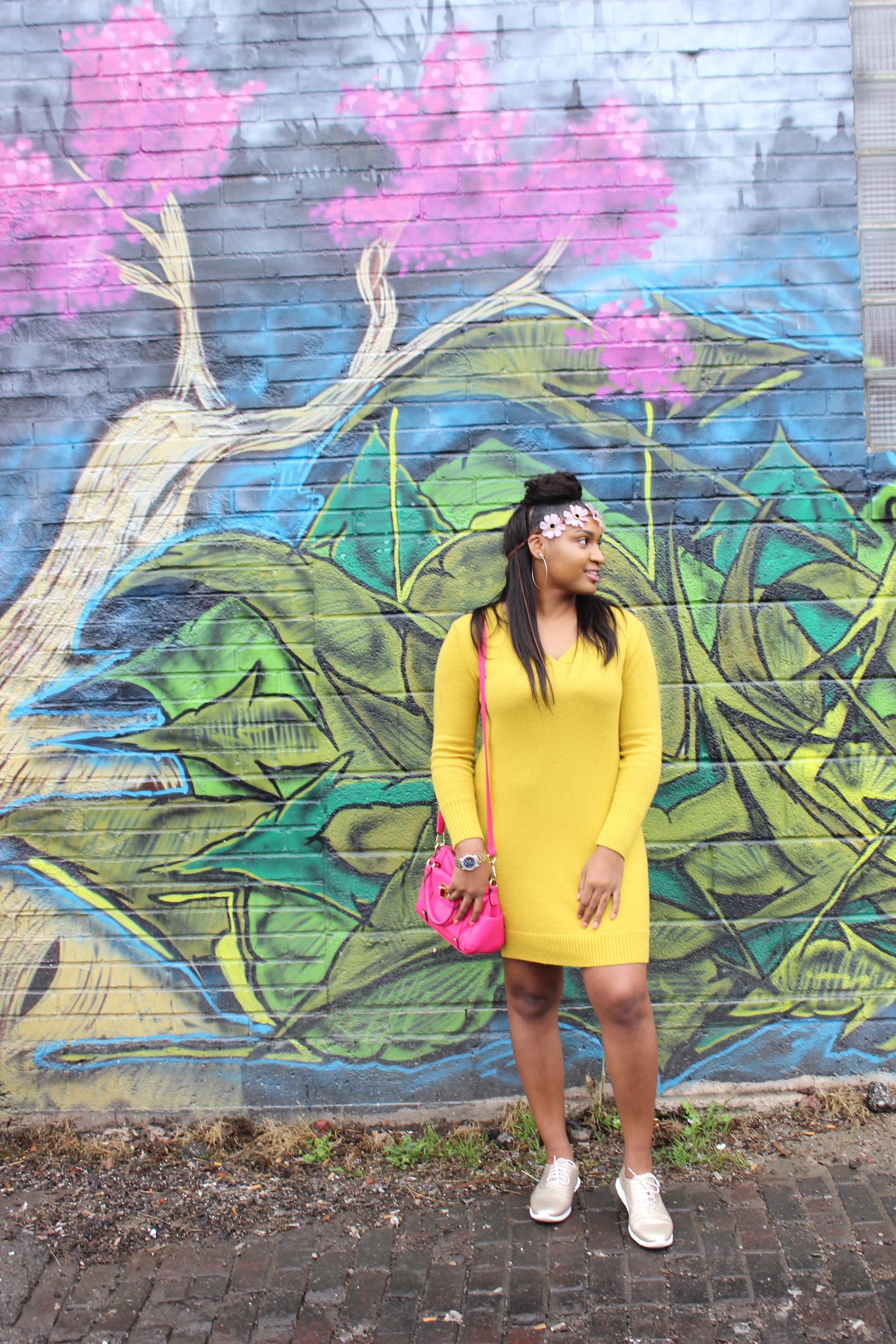 spring dresses on black bloggers