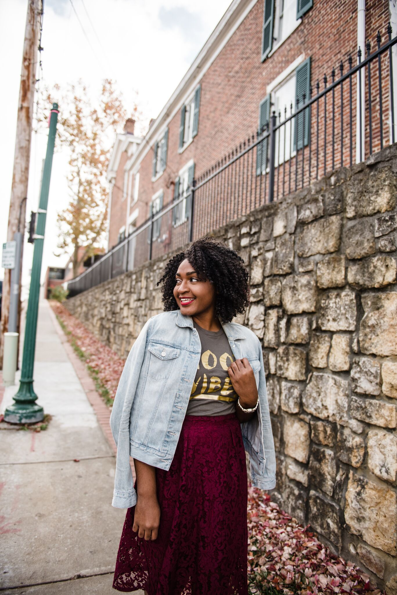 How to Style an Olive Good Vibes Tee