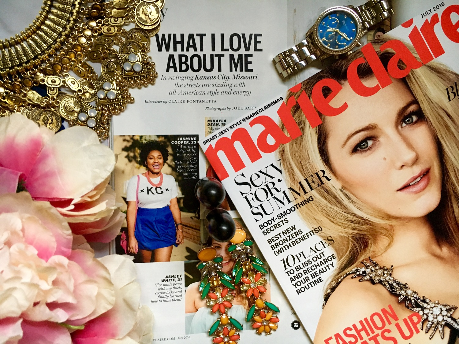 I was featured in Marie Claire Magazine -