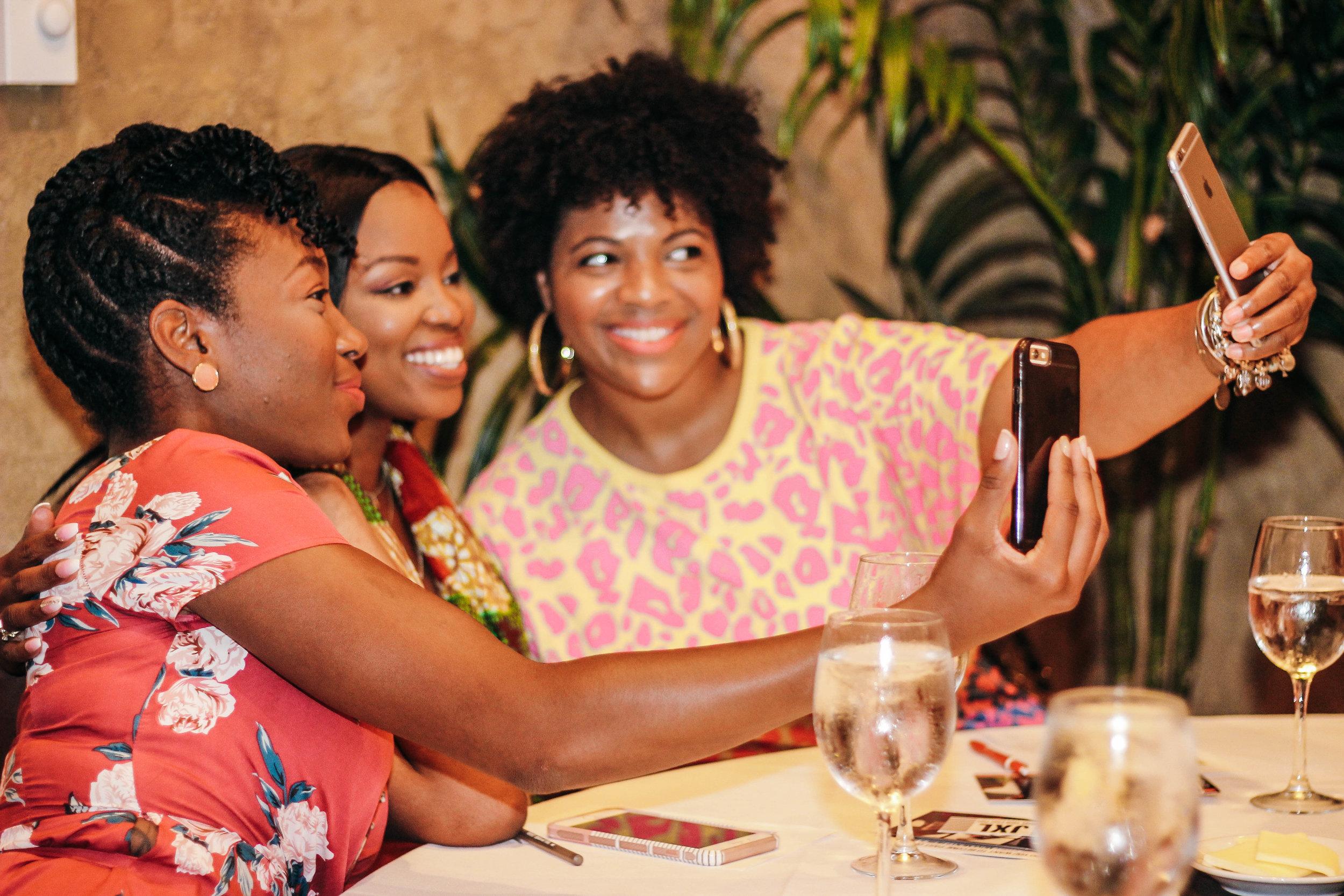 selfies and mimosas at the jasmine diane summer brunch.jpg