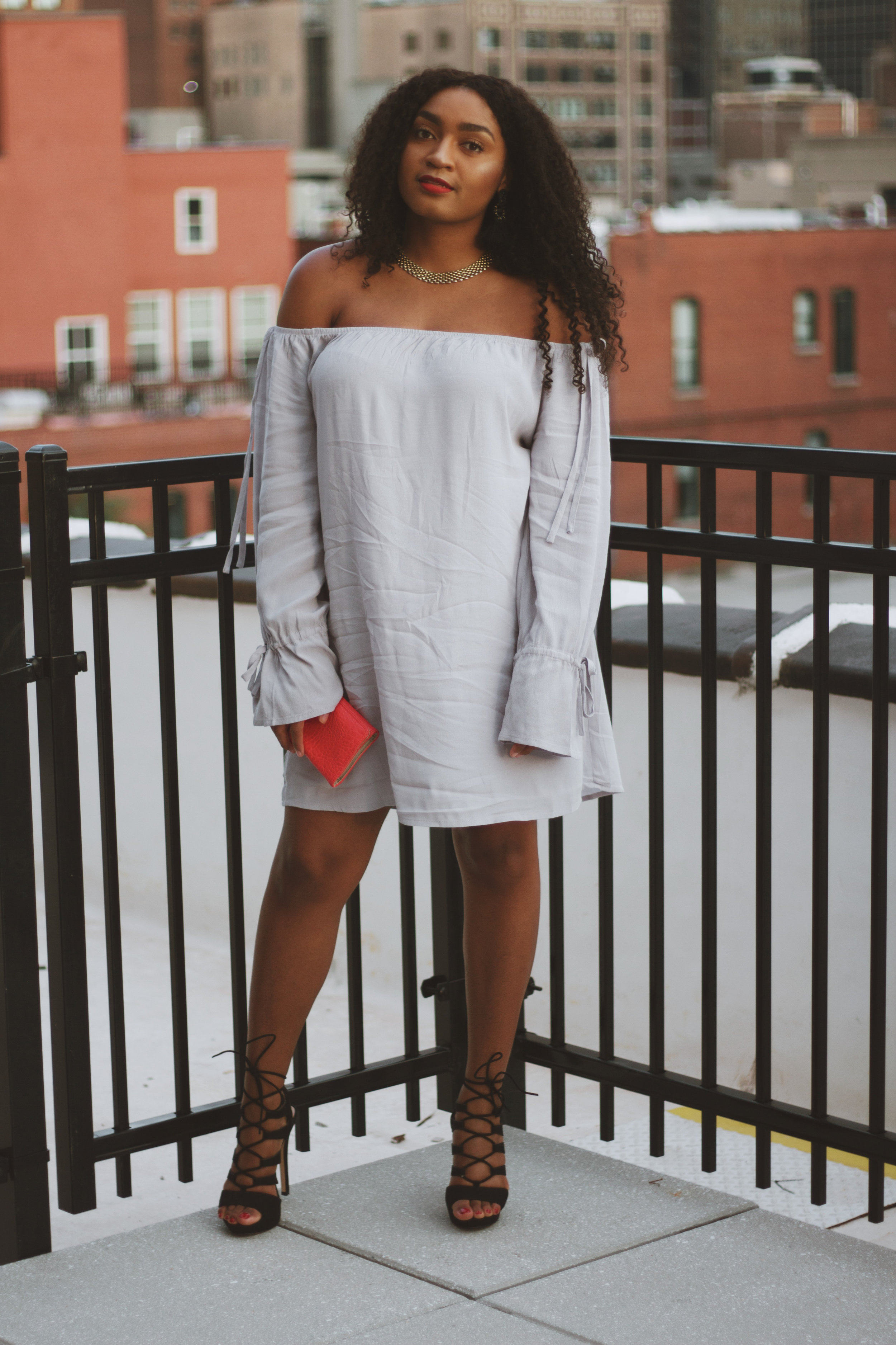How to wear an off the shoulder dress