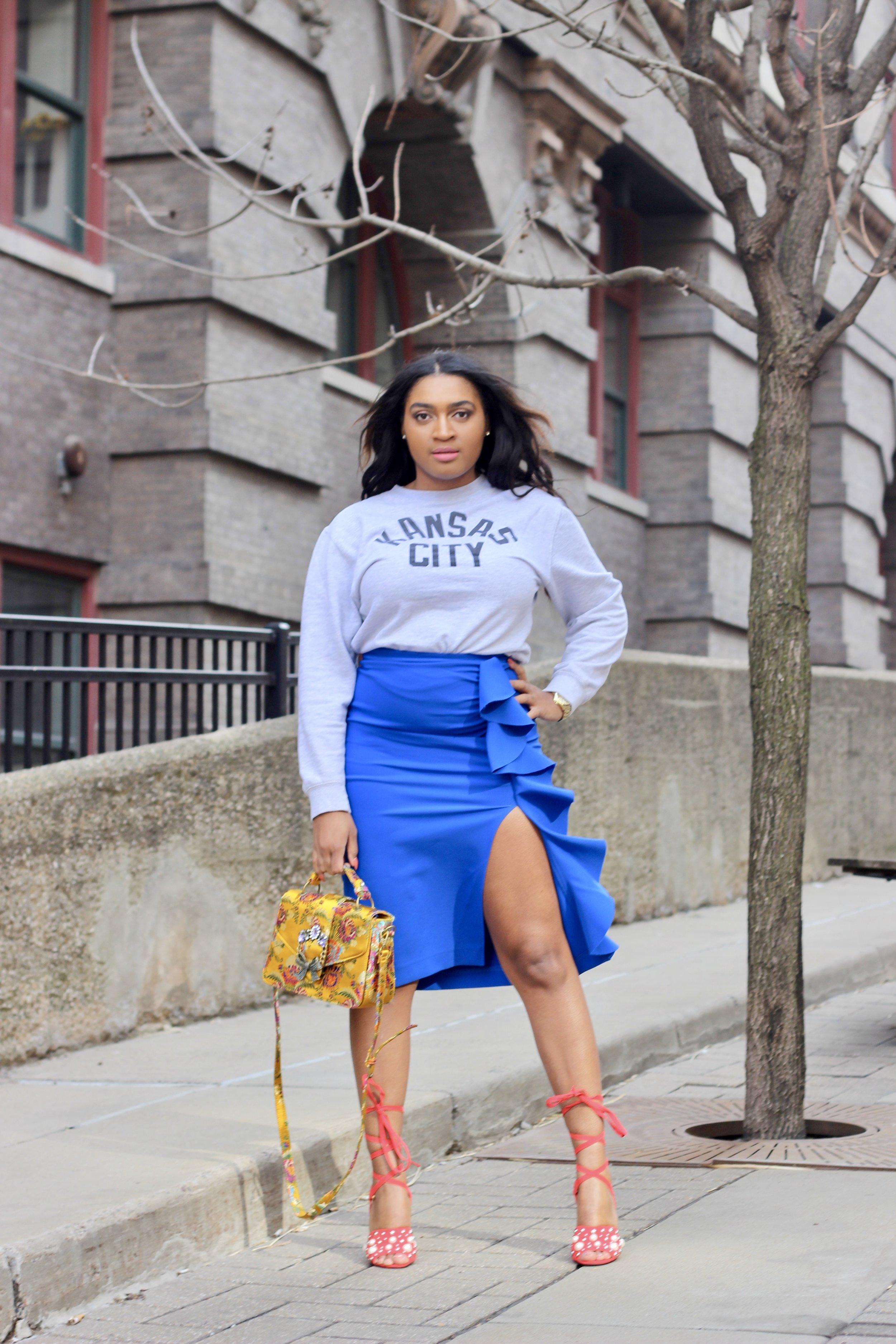 Topshop Skirt x MADE Urban Apparel Crewneck