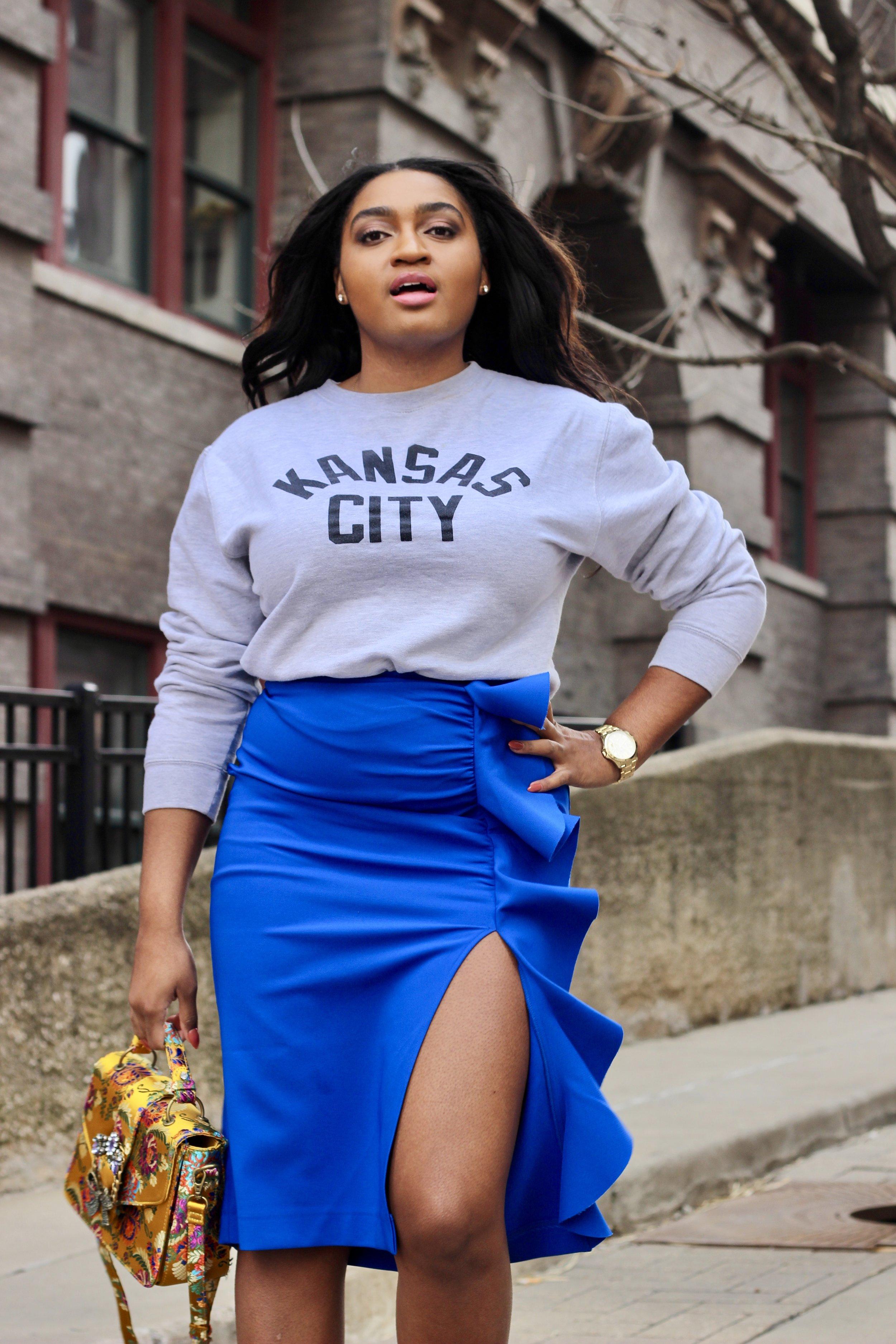 Blue Topshop Skirt