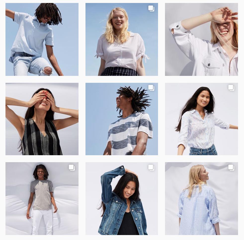Gap Instagram Feed for Branding Inspiration