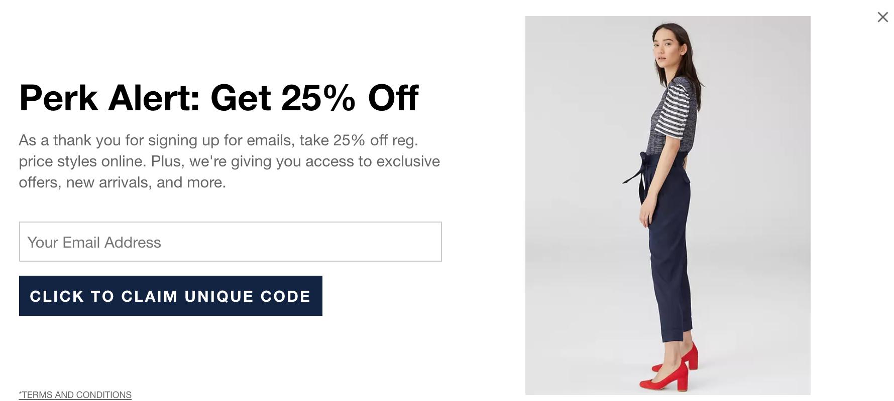 GAP website marketing