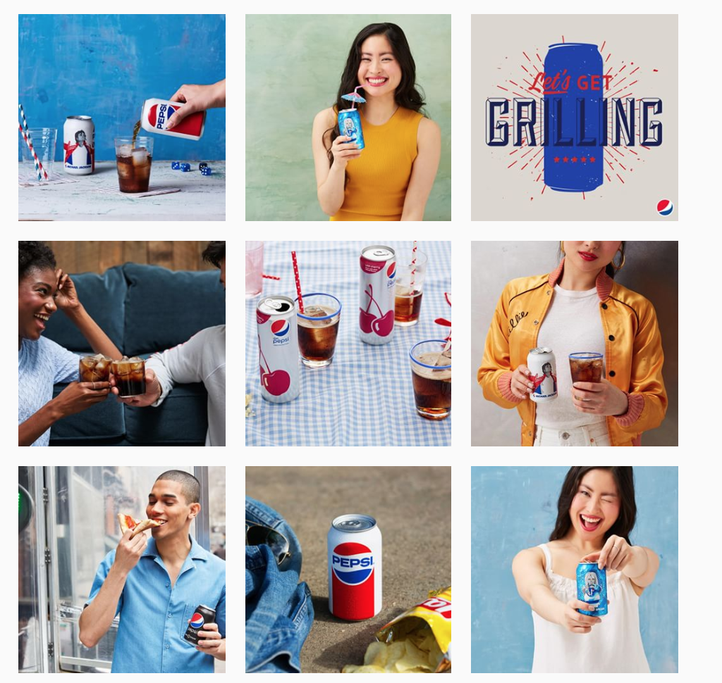 Pepsi's Instagram and Branding