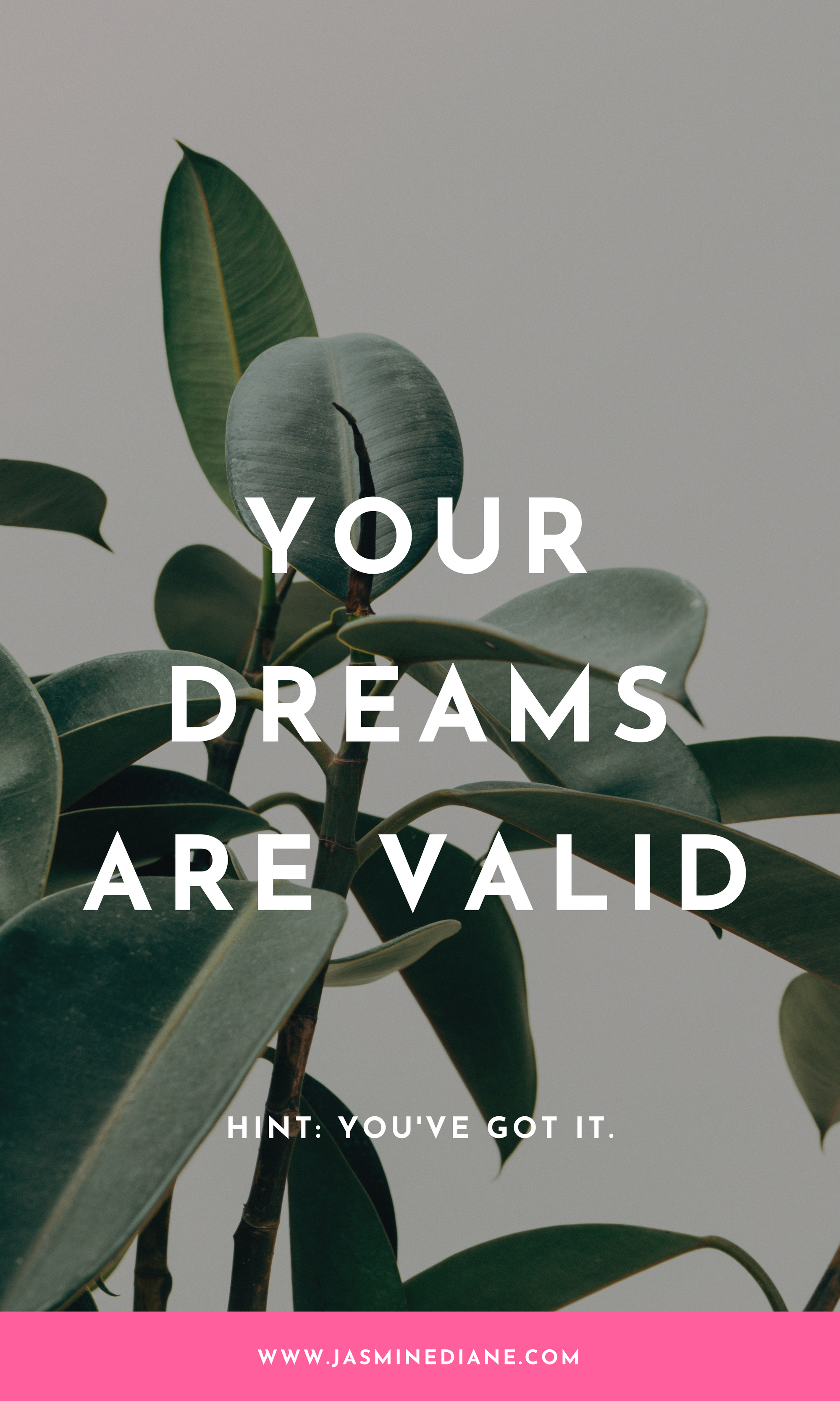Your dreams are valid. Inspirational quotes for young women.
