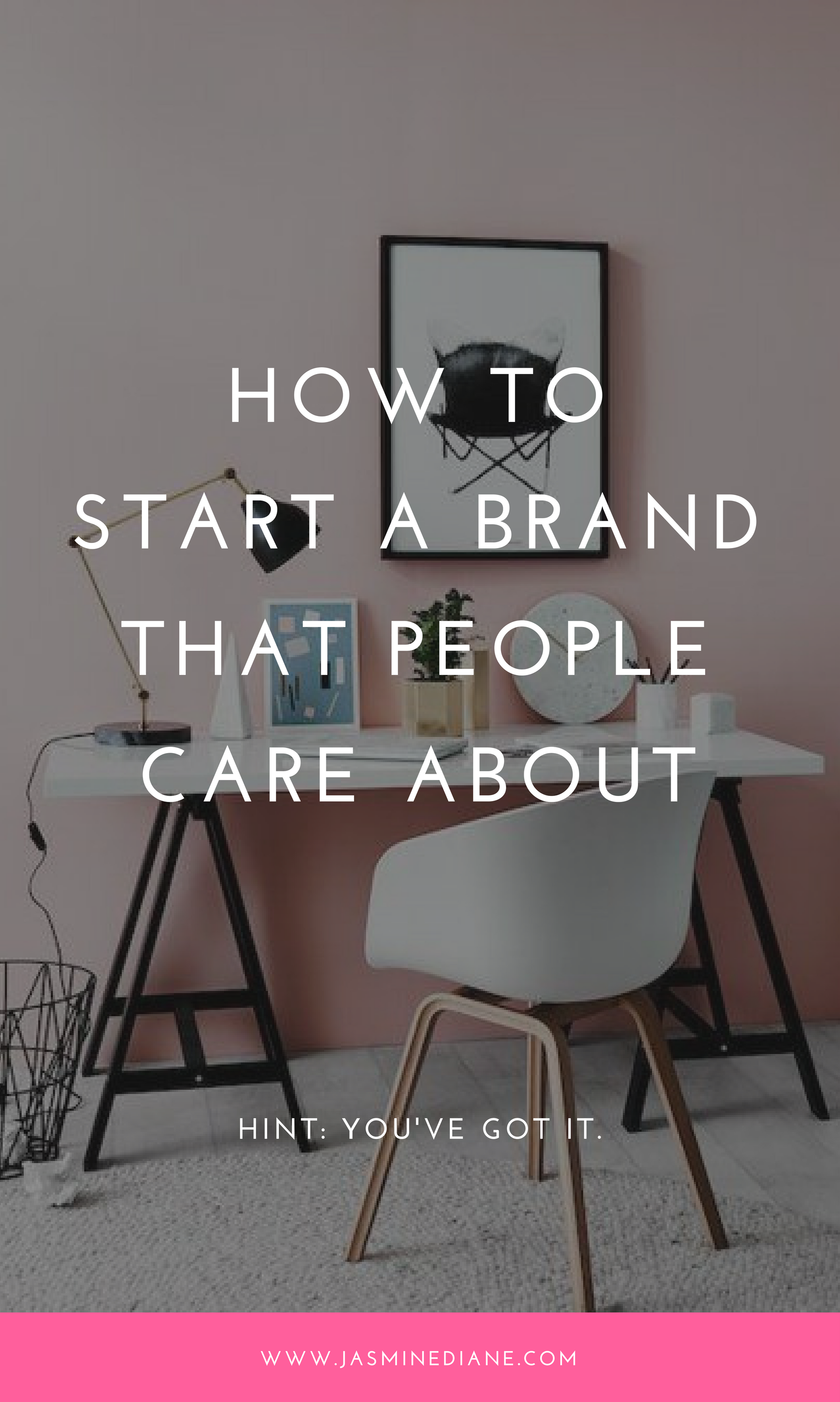 How to start a brand people care about