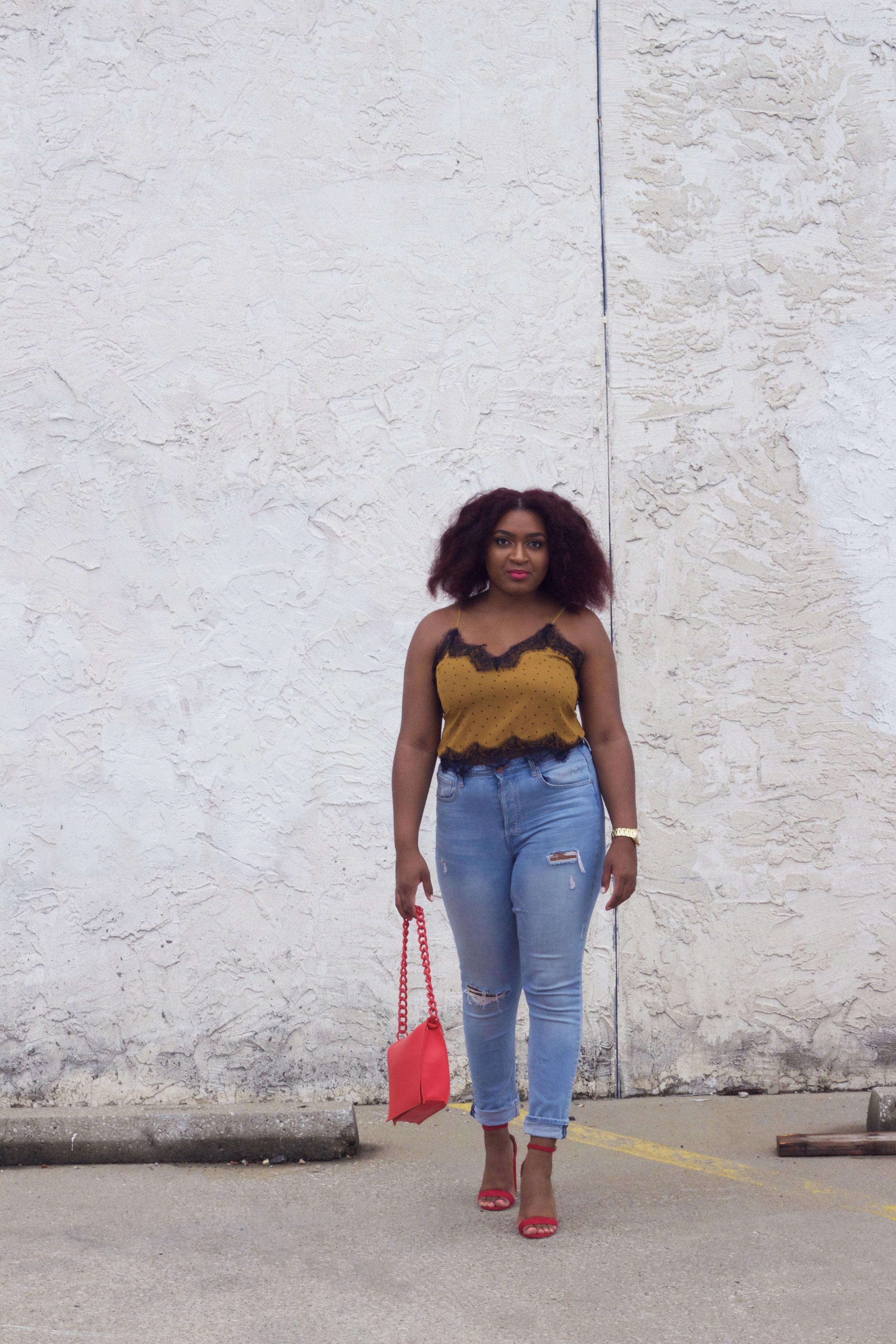 jasmine diane with big natural hair in kansas city