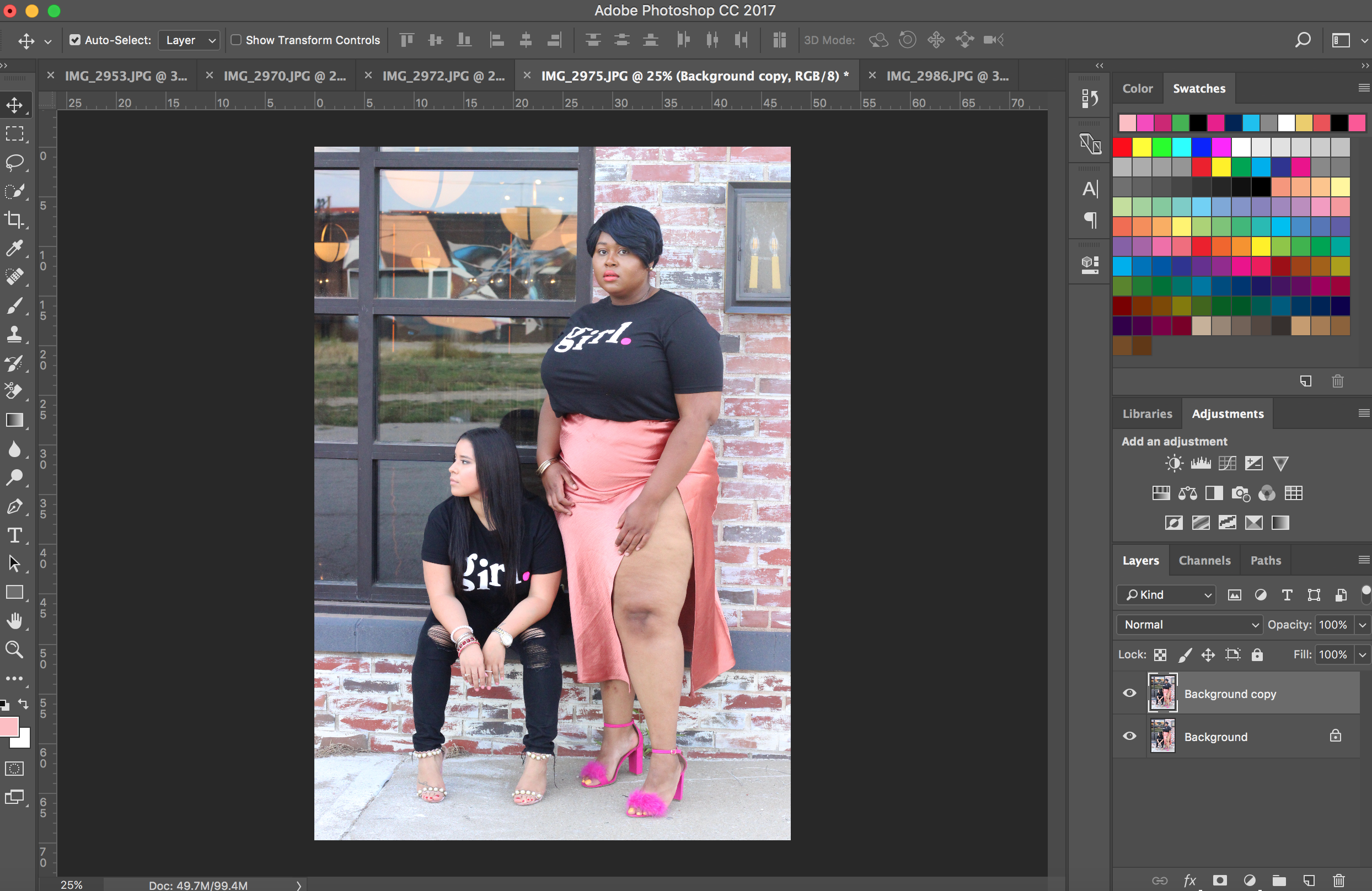 Photoshop editing for my girl stories photo shoot.