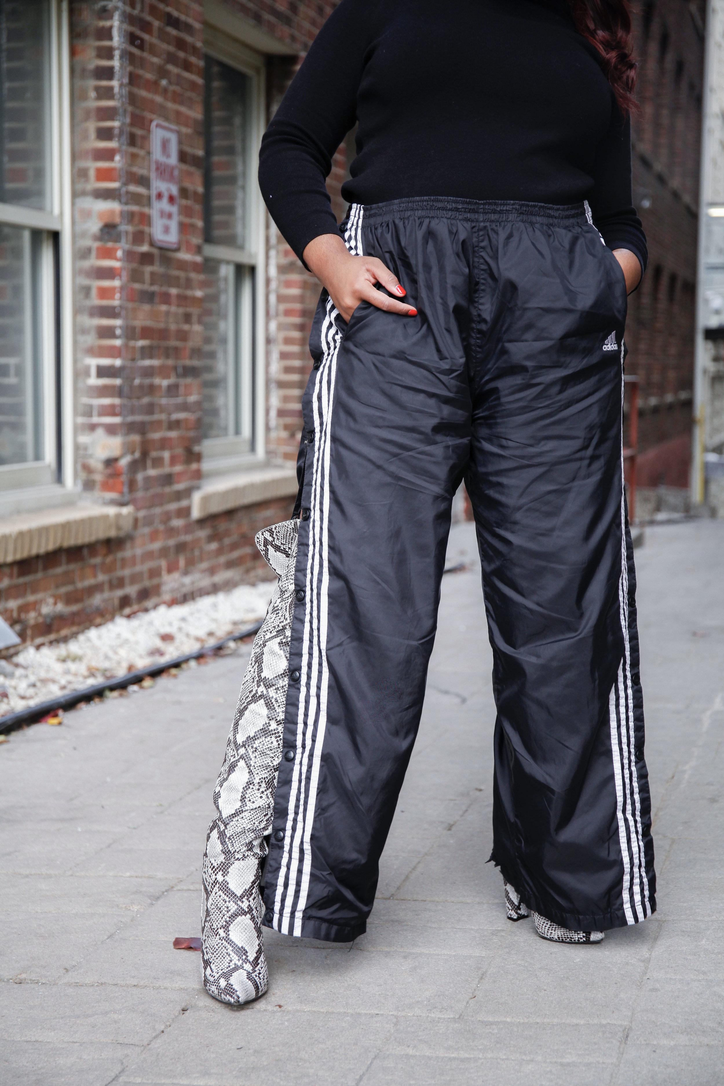 retro adidas track pants on jasmine diane shot by steven g.jpg