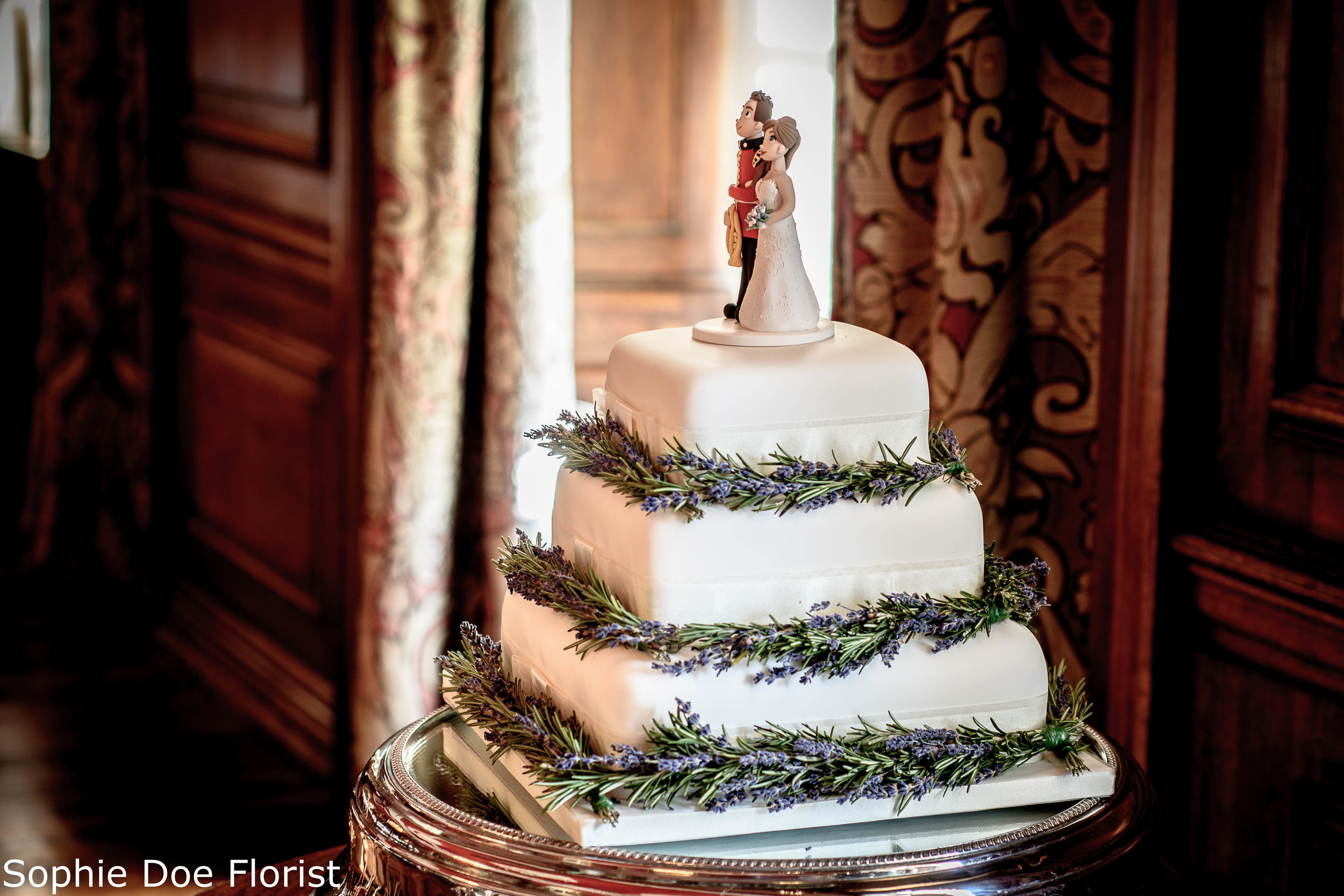 Sophie Doe Florist Wedding Cake with Lavender