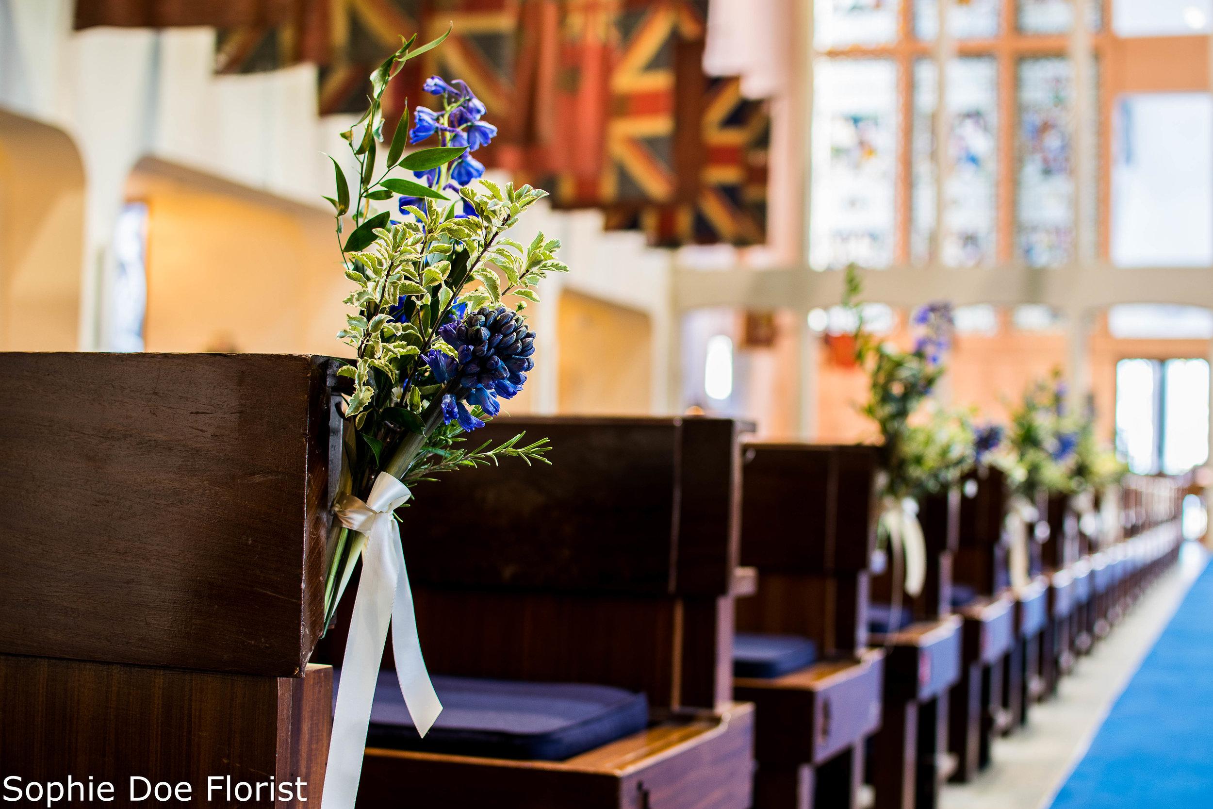 Sophie Doe Florist Military Chapel Wedding Flowers