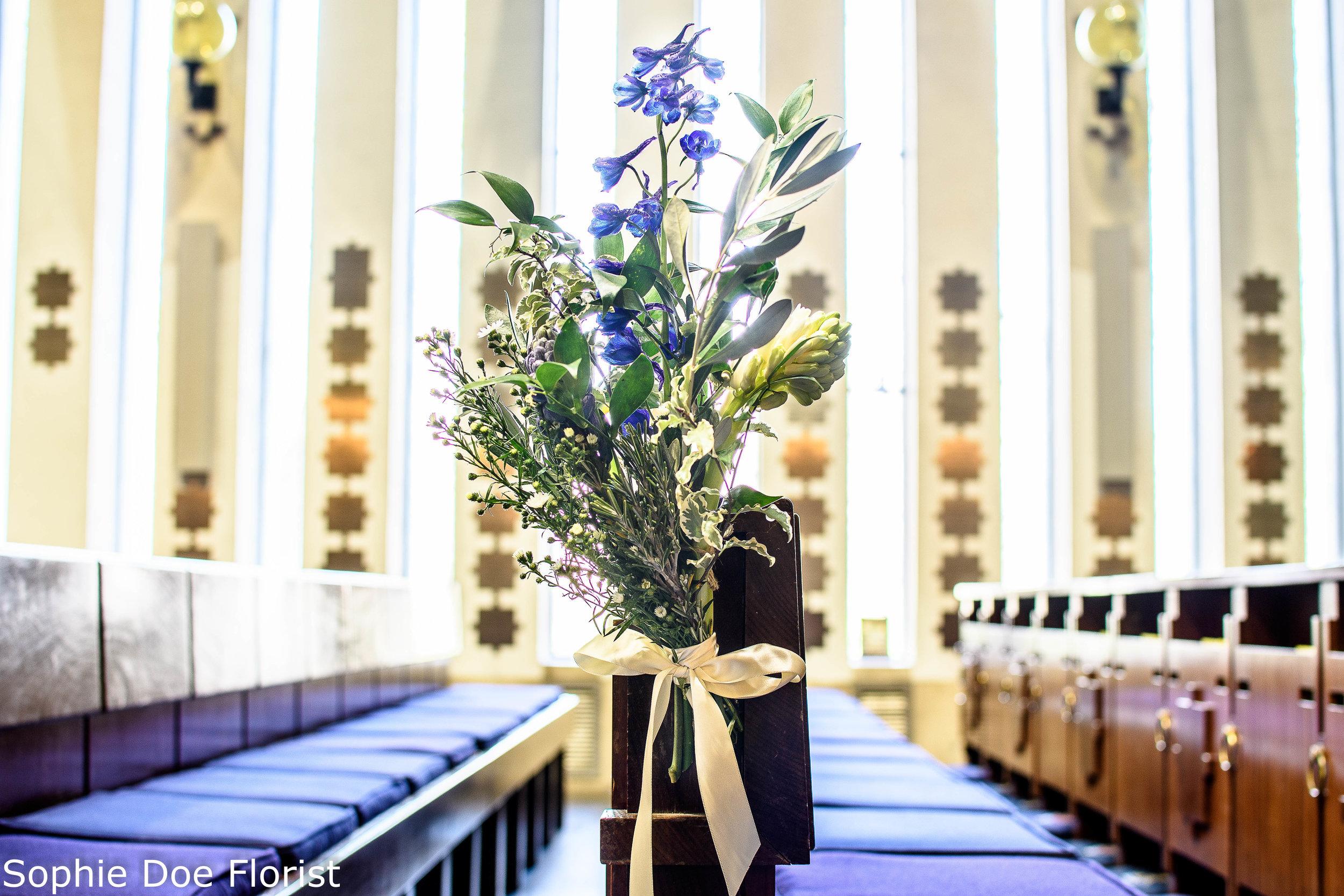 Sophie Doe Florist Wedding Flowers Blue and White