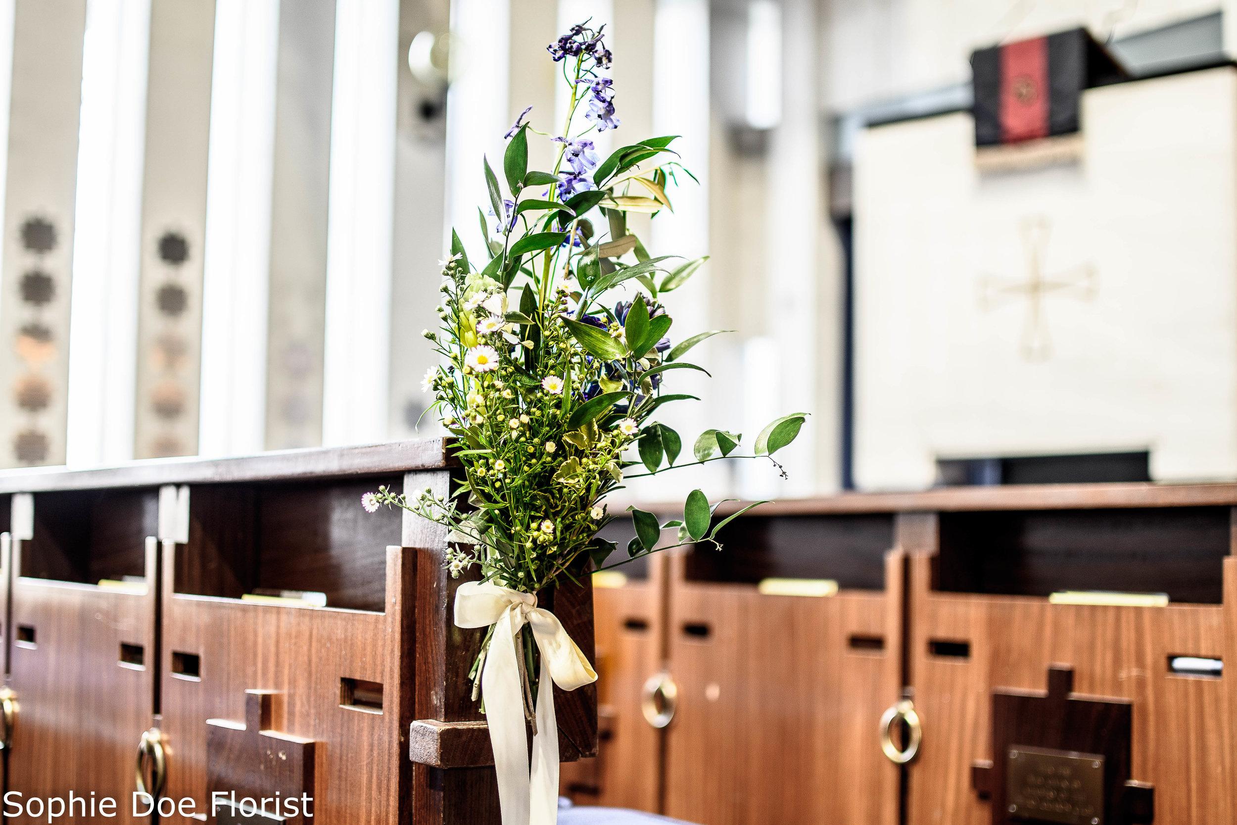 Sophie Doe Florist Wedding Pew Ends
