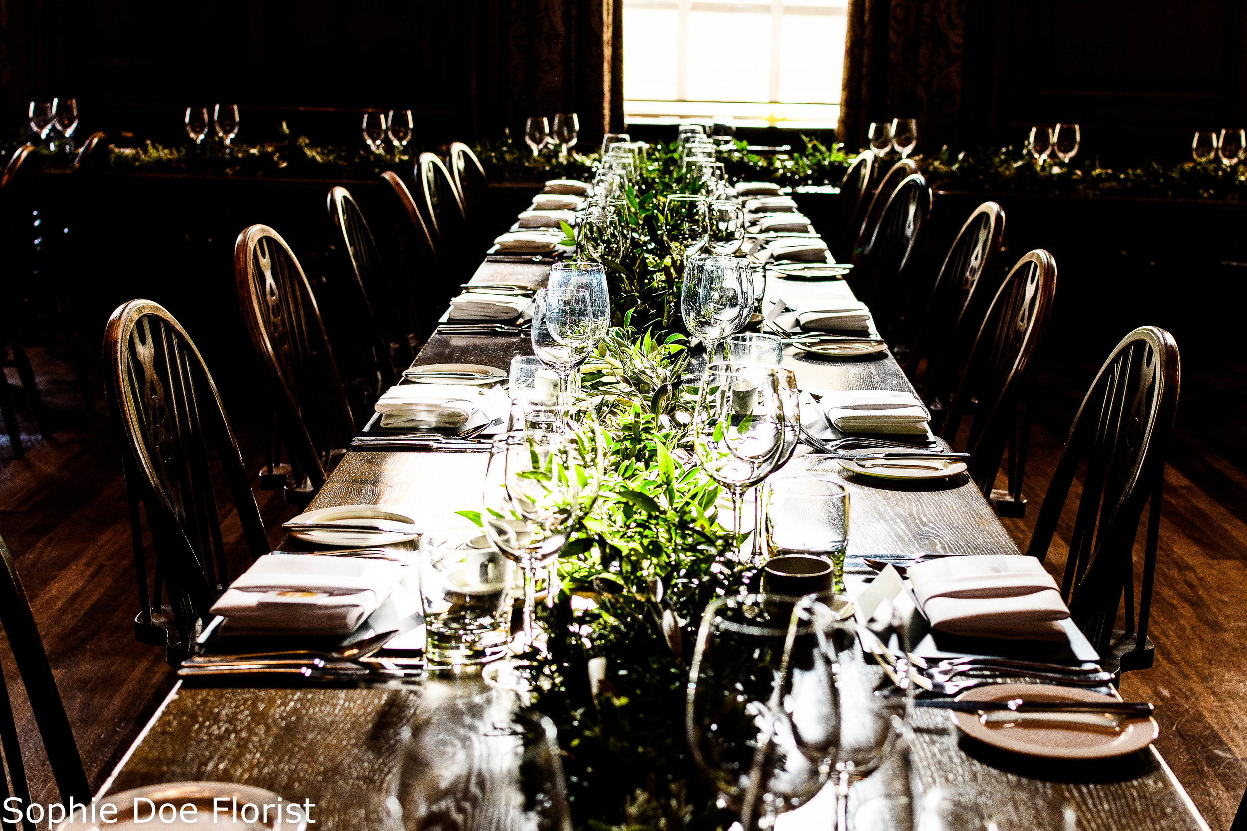 Sophie Doe Florist Greenery Table Centre Piece