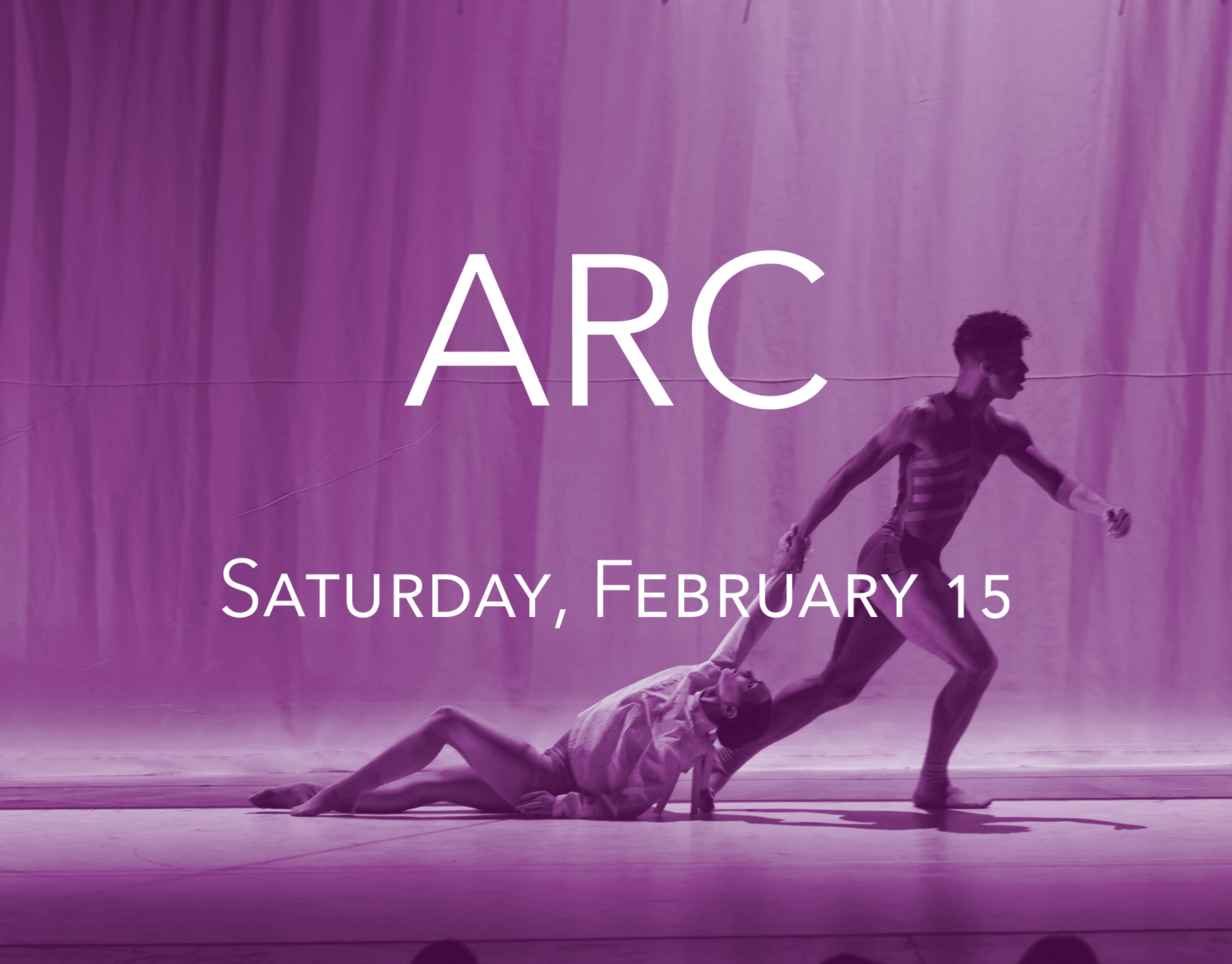 ARC - Saturday, February 15 | 8:00pmExplore power, beauty, and raw emotion with Eisenhower Dance Detroit in this triple bill program. Artistic Director, Stephanie Pizzo's, thought-provoking ARC created in collaboration with Detroit-based projection artist Adam Ludwig and lighting designer David Goodman-Edberg, returns by popular demand along with the premiere of a new work by internationally renowned choreographer, Nicolo Fonte. Pizzo's Surge, recently performed at Jacob's Pillow and set to an original composition by well-known techno artist, Aaron Siegel, rounds out this dynamic program.$32 General Admission$27 Senior (Ages 62+)$27 StudentBerman Center for the Performing Arts6600 W Maple Rd, West Bloomfield Township, MI 48322