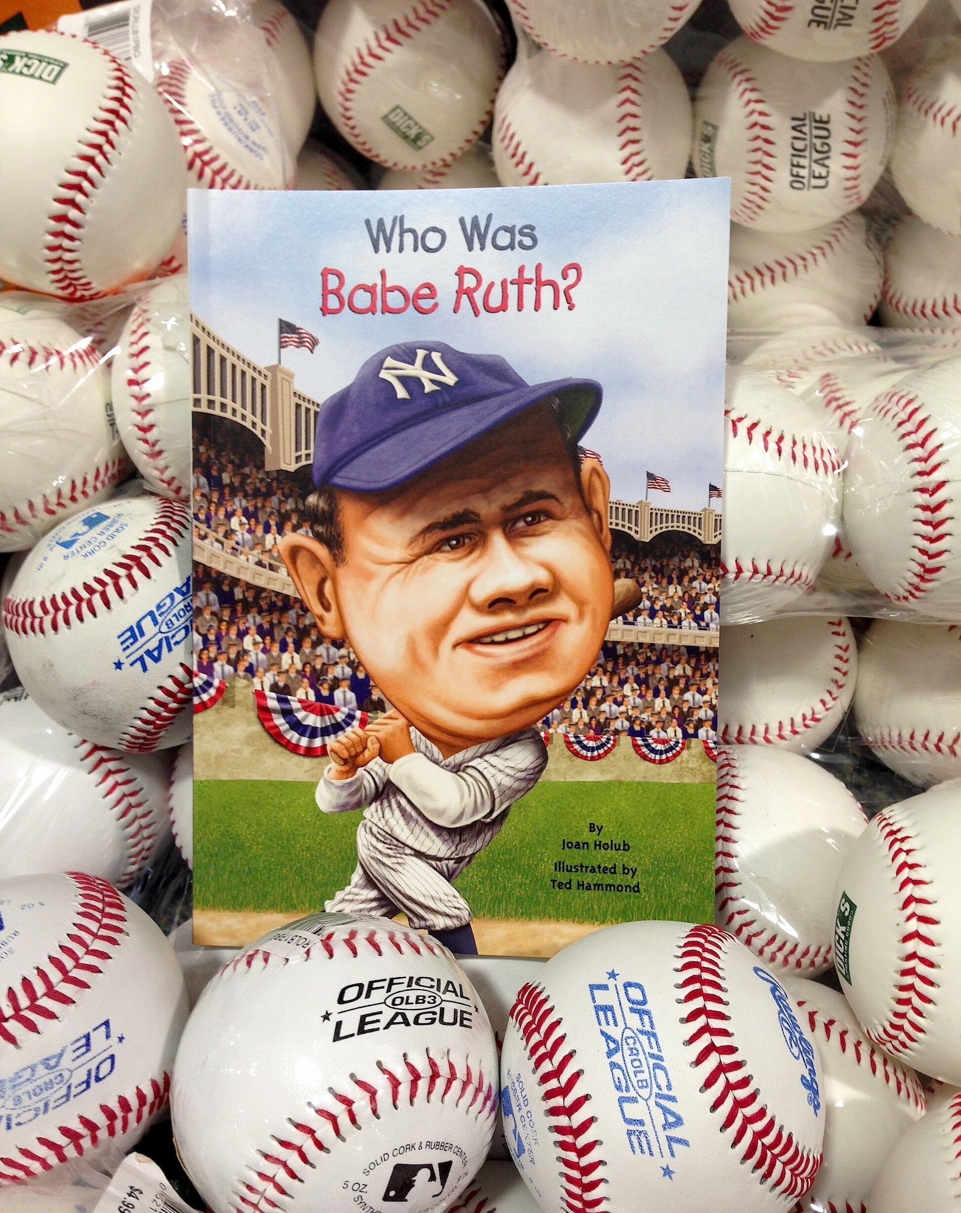 Who Was Babe Ruth? a biography for ages 6-12 and up by Joan Holub
