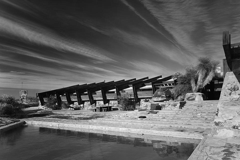 Taliesin West, Scottsdale AZ, Frank Lloyd Wright. ©Ezra Stoller/Esto