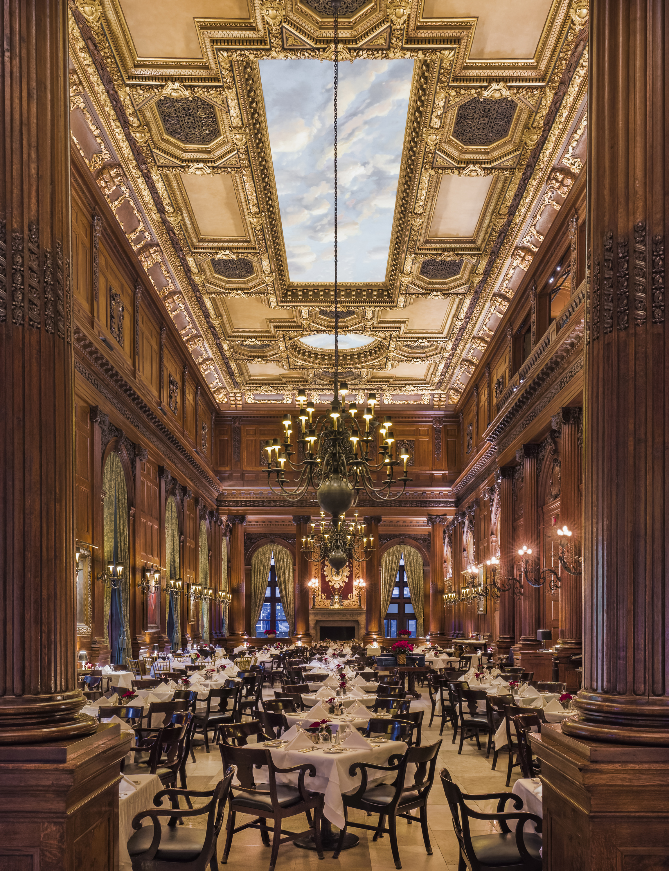 Private Club Dining Room, Location: New York, New York, Lighting