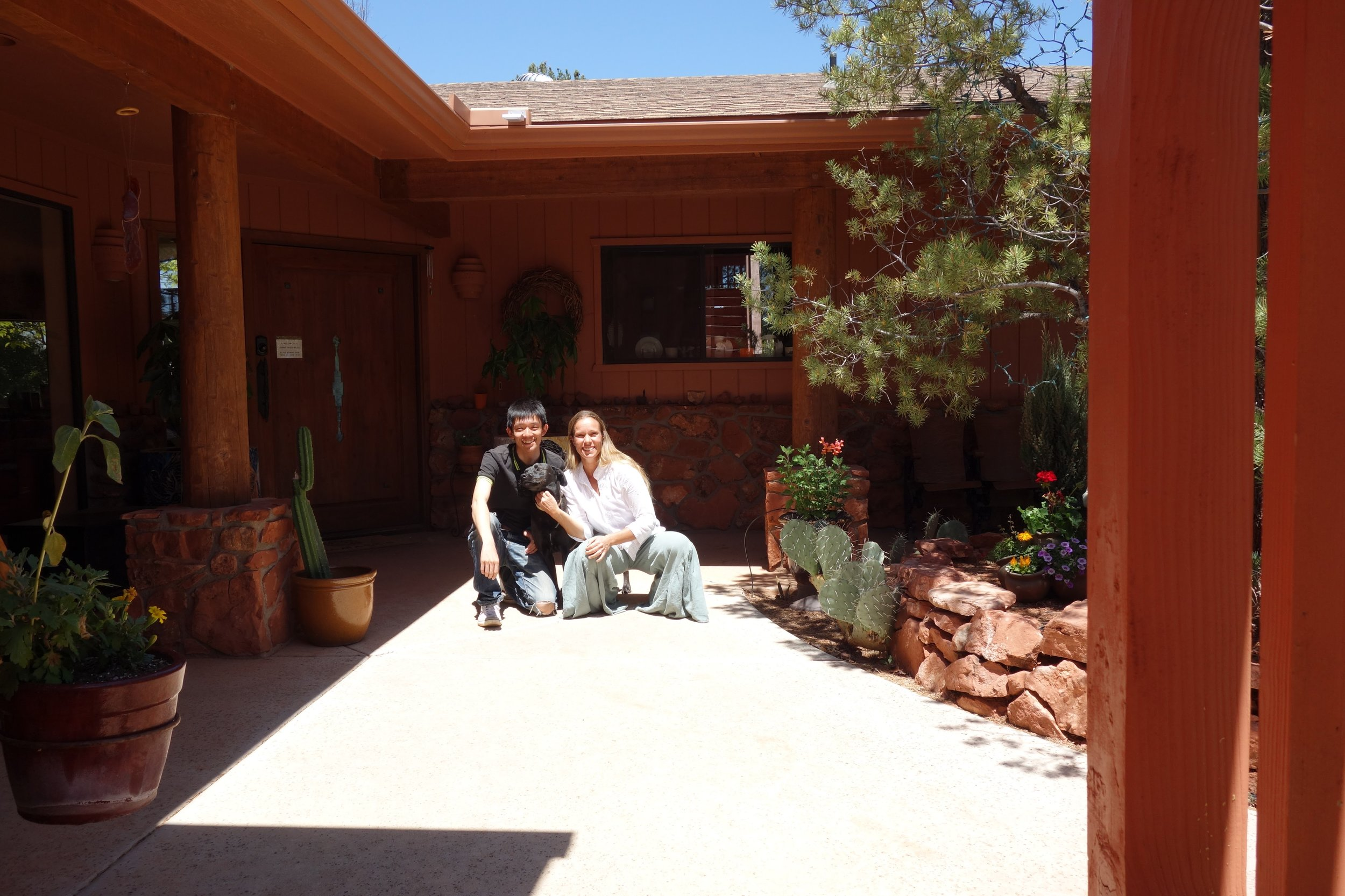 Yohei and I Sedona Sacred Rocks.JPG