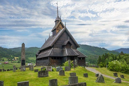 The Eidsborg Stave Church. Photo via VisitNorway.