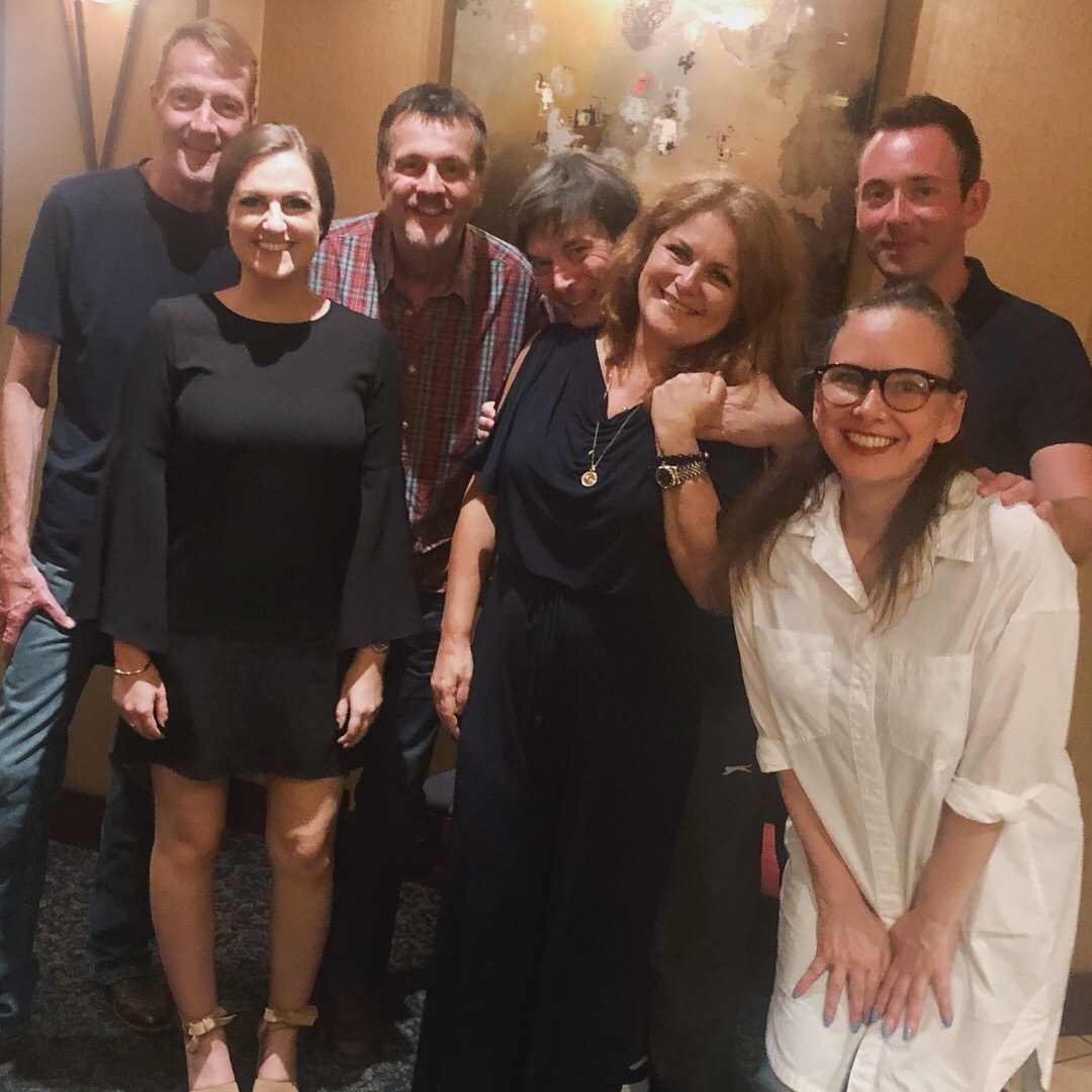 From left to right: Lee Child, me, Mark Billingham, Ian Rankin, Sara Blaedel, Ragnar Jonasson, and Yrsa Sigurdardottir!