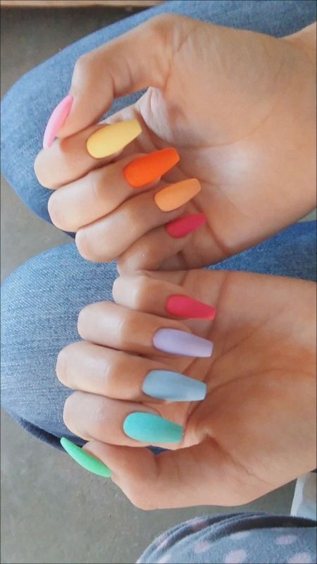 Rainbow Manicure -